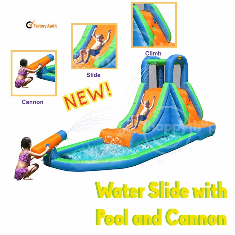 9140--Water Slide with Pool and Cannon