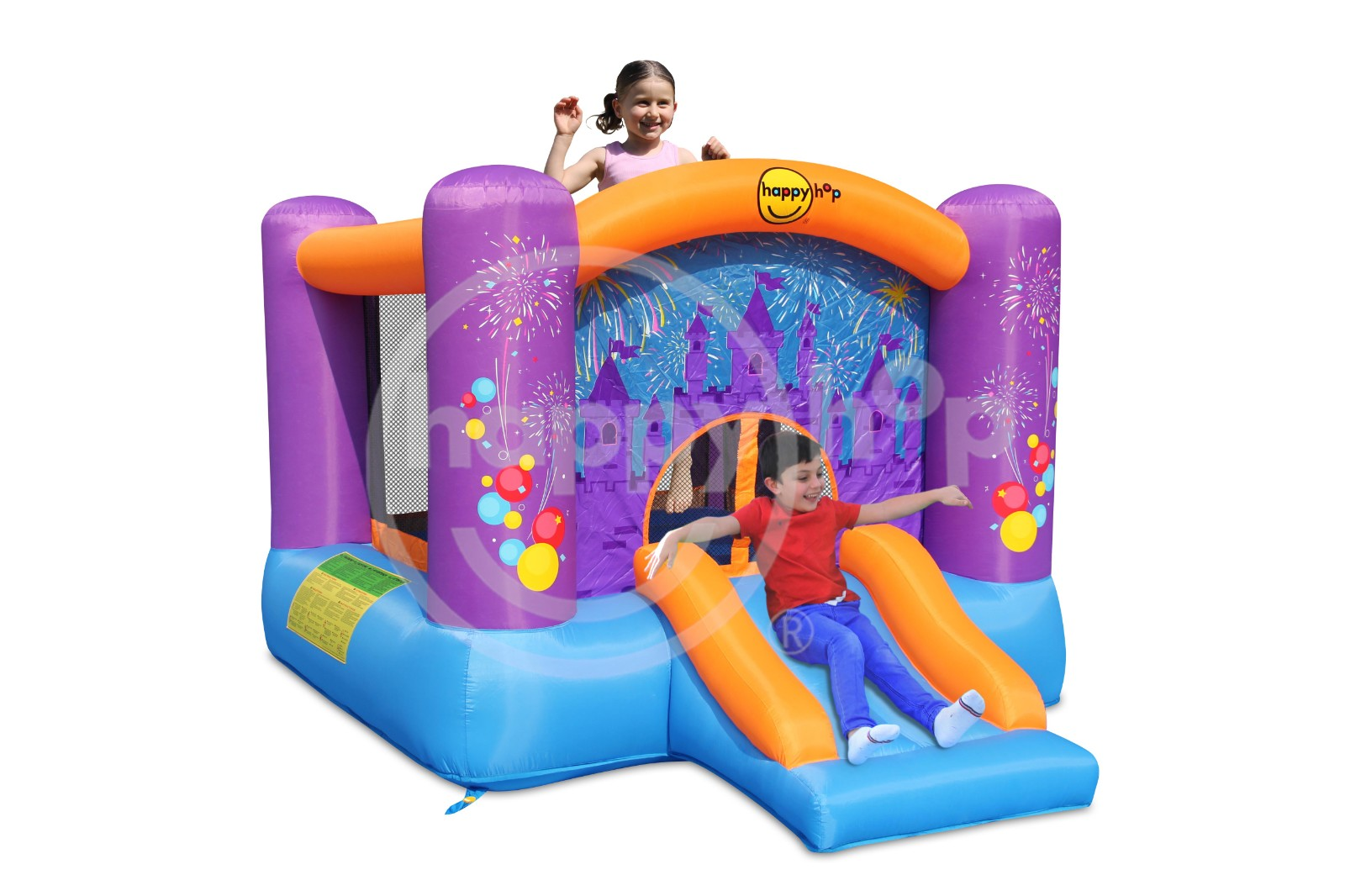9201F-Firework Bouncer With Slide